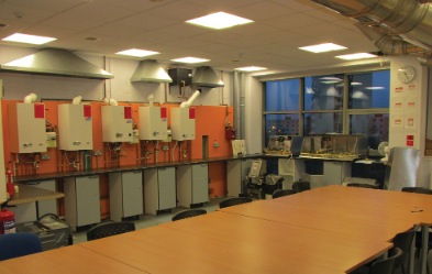 Ferroli training room at South Lanarkshire College